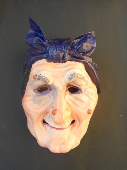 Как сделать маску бабы яги своими руками из бумаги